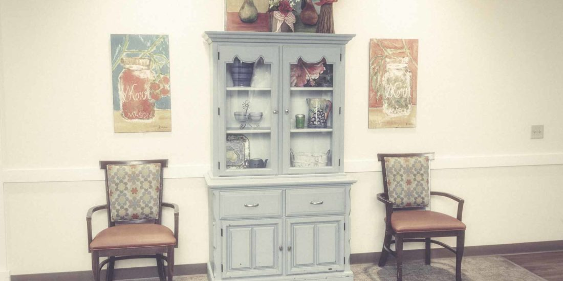 China Closet Between Two Chairs