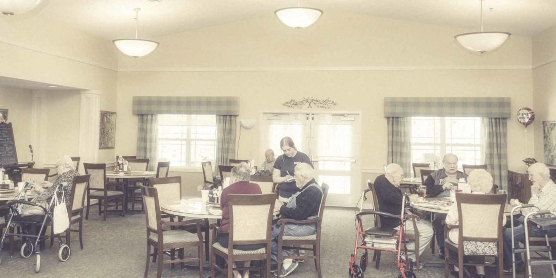 Dining Area with Elderly Residents